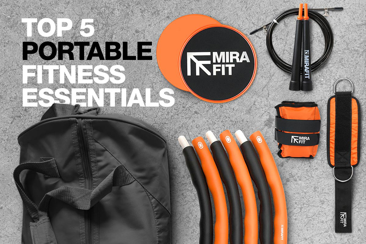 orange black and grey themed graphic with mirafit products on and text