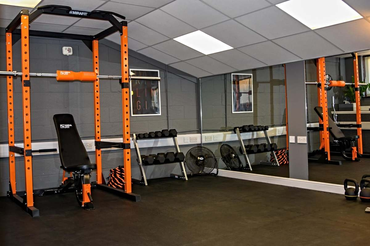 How much room do you need for a power rack mirafit