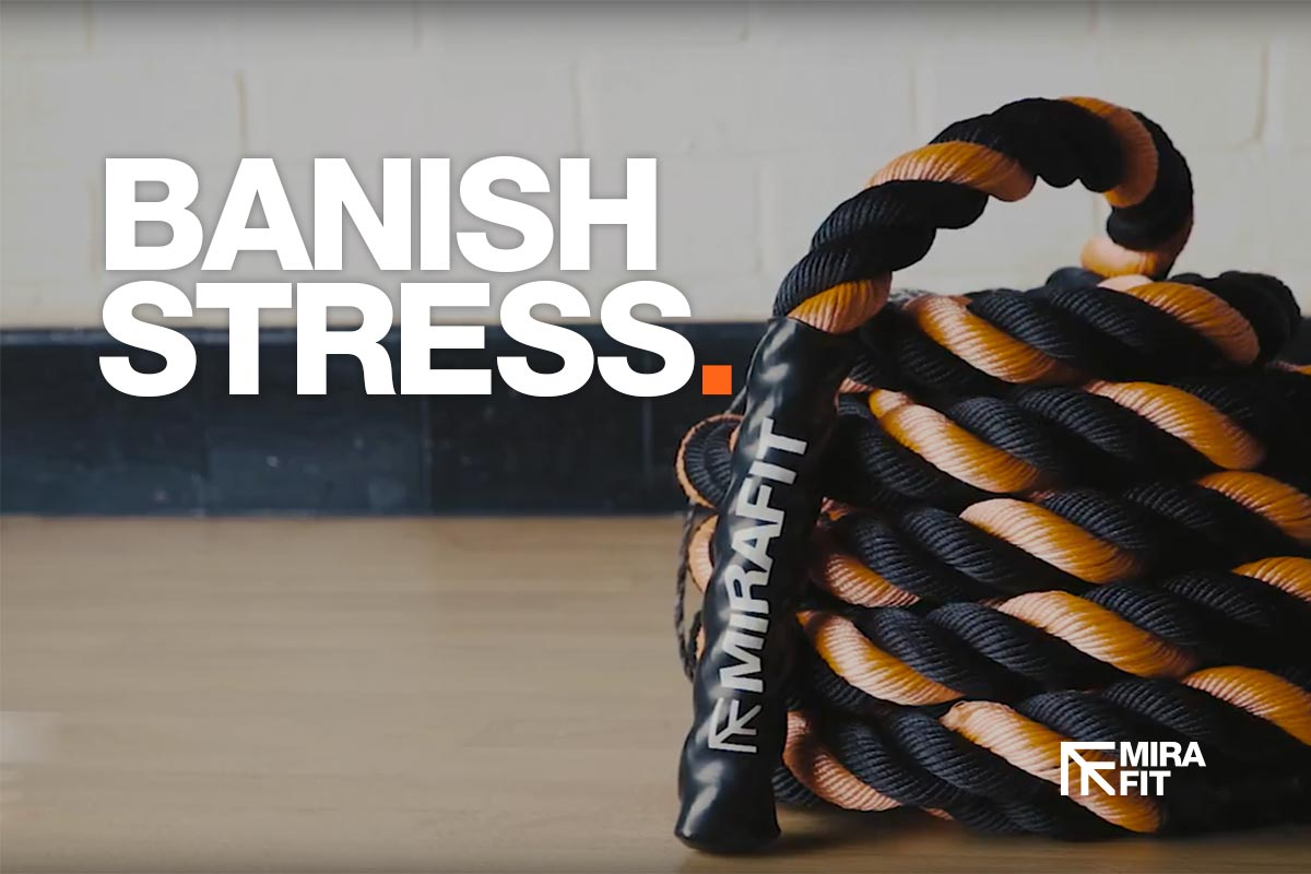 banishing stress without a gym an image of a battle rope