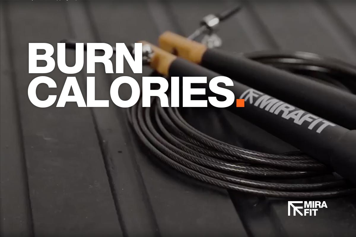 burn calories image of a skipping rope