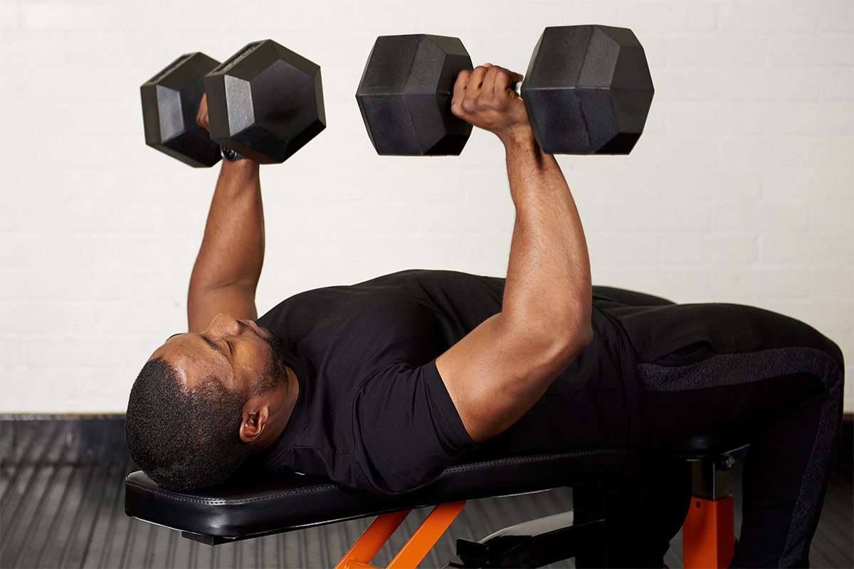 best exercises using a weight bench dumbbell bench press