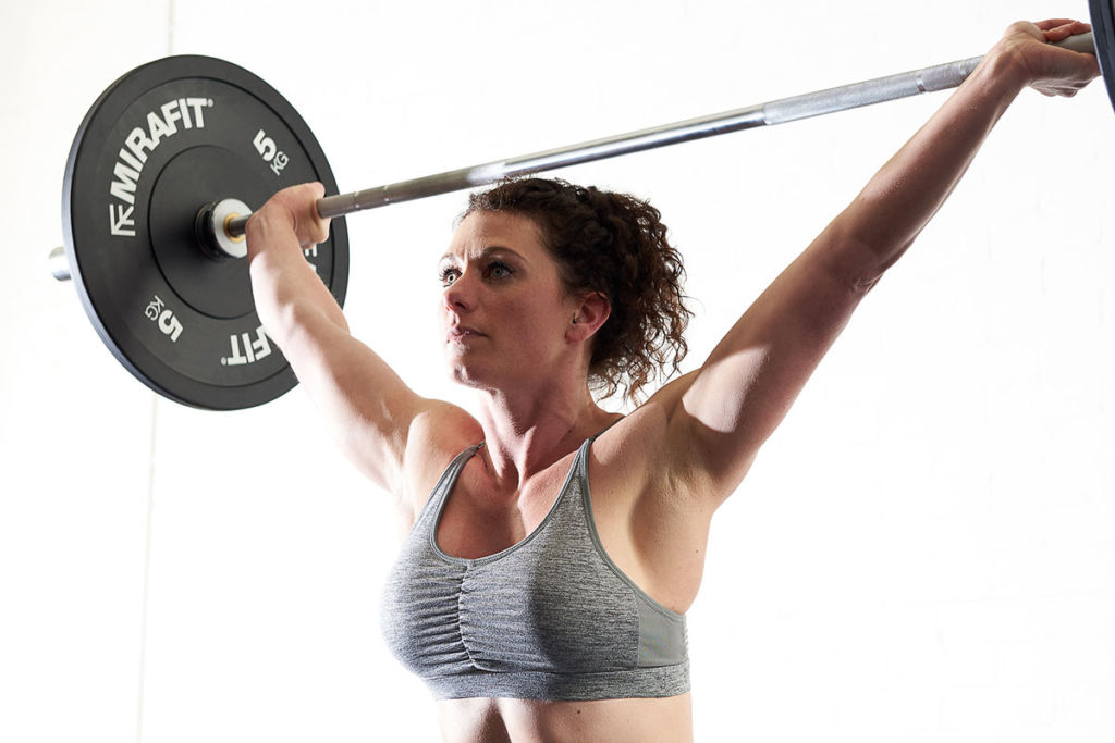 mirafit fitness expert does olympic weightlifting