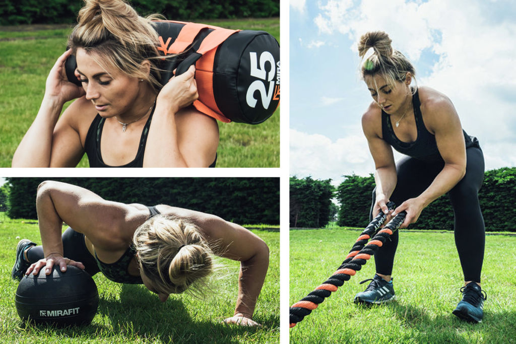 england rugby player vicky fleetwood trains with mirafit gym equipment