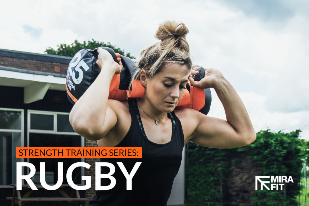 england rugby player vicky fleetwood exercising with a mirafit power bag
