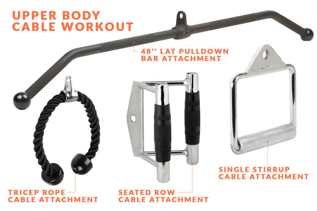 a selection of mirafit cable attachments